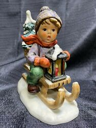 Hard To Find Large Size 5 1/2t Ride Into Christmas Hummel Figurine 396 1971