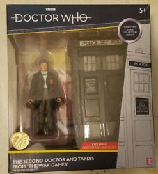 Doctor Who 5 Inch Figure Second 2nd Dr Doctors Tardis Set