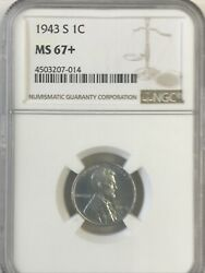1943-s Ngc Ms 67+ Lincoln Cent Nice Coin - Great Price