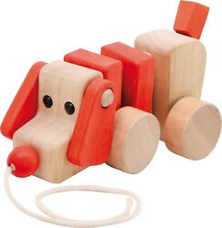 Small Foot Wooden Baby Toy Wood Pull-along Pull Along Dog Puppy Nature 2101