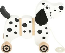Small Foot Wooden Baby Toy Wood Pull-along Pull Along Dog Puppy Dalmation 10641