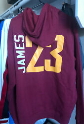 New Cleveland Cavaliers Fanatics Pullover Hoodie Sweater Nba Lebron James 23
