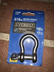 New Stainless Steel Anchor Shackle 5/16 1400 Lb Work Load Everbilt