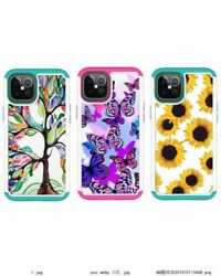 10pcs/lot Dual Layer Hybrid Painted Rugged Tough Armor For Iphone 12 Samsung S21