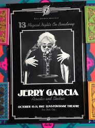 Jerry Garcia Band 1987 Poster Nyc Acoustic Broadway Lunt-fontanne Vintage Greene