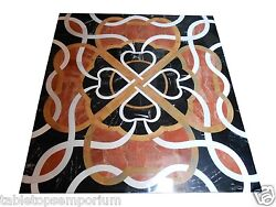 36x36 Marble Dining Coffee Table Top Mosaic Inlay Pietra Dure Living Decor