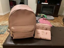 coach leather backpack women $150.00