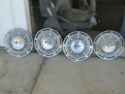 Muscle Car Chevy 1950and039s 1960and039s Original Hub Caps 4 Corvette