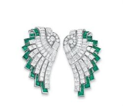 Green And White Princess 925 Sterling Silver Baguette Unique Party Wear Cz Earring