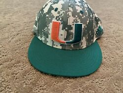 Miami Hurricanes Adidas Game Used Baseball Fitted Hat 7 2