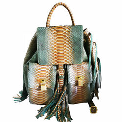 Genuine Snakeskin Leather Backpack Purse for Women $300.00