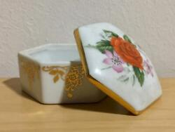 Vintage Porcelain Limoges Signed Collectibles Pill Box Pin Box Jewellery Jewelry