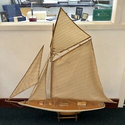 Original Antique 1920andrsquos Pond Yacht Hand Made Incredible Condition Very Large