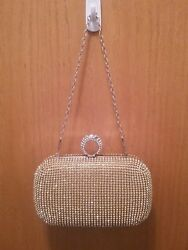 Evening Clutch Bags Diamond Studded Evening Bag With Chain Shoulder Bag $21.00