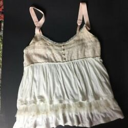 American Eagle Size S Small Top Adjustable Straps Ruffle Blouse Shirt