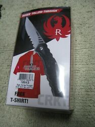 Ruger Follow-through Knife By Crkt And One Free X-large Ruger Knives T-shirt