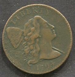 1794 Large Cent Head Of 94   Xf Details   Liberty Cap   Lettered Edge