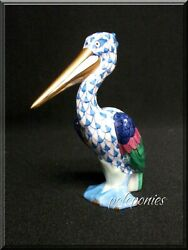 Herend Pelican 5170 Blue Fishnet - Waterfowl Collection
