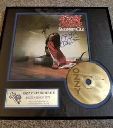Ozzy Osbourne Hand Signed Blizzard Of Ozz Plaque Limited Edition /950 Sony Coa