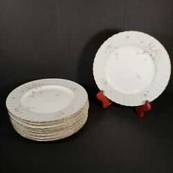 Vintage Mikasa Silver Shadow Set Of 9 Salad Plates 8.25 Discontinued 1980and039s
