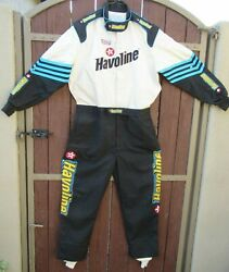 Authentic Vintage Simpson One Piece Driving Suit W/ Havoline And Texaco Badging
