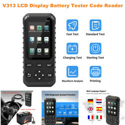V313 Lcd Display Full Obd2 Obdii Code Reader Scanner Diagnostic Tools Testing