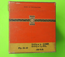 1934 1935 1936 1937 1938 1939 1940 Nors Plymouth Piston Rings 3 1/8 .030 O/s