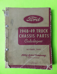 1948 1949 Ford Truck Chassis Parts Book Oem Ford Motor Co. Form 3749