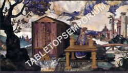 18x24 Marble Dining Center Outdoor Table Top Mosaic Inlay Hallway Decor E855