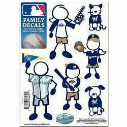 Milwaukee Brewers Family Decals 5 x 7quot; Sheetquot;