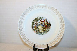 Royal China Minuet 22k Gold Colonial Couple People 10 Dinner Plates Set Of 2
