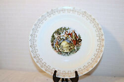 Royal China Minuet 22k Gold Colonial Couple People 10 Dinner Plates Set Of 4