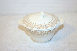 Royal China Minuet 22k Gold Colonial Couple People 2 5/8h Sugar Bowl With Lid