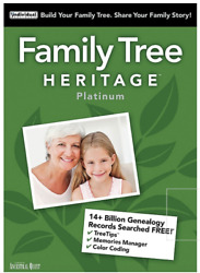 FAMILY TREE HERITAGE PLATINUM 15 Latest Version PC Software Win 1087 new