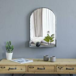 Vintage Arched Wall Mirror W Shelf Rustic Wall Mounted Mirrors for Wall Decor