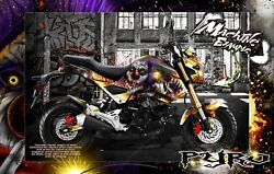 Honda Grom 2013-2020 Graphics Wrap And039pyroand039 Decal Kit Skin Wrap Parts Msx125