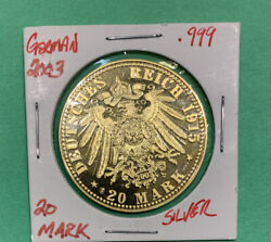 2003- Silver W/ Gold Coating German Re-strike Coin