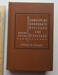 Liability Of Corporate Officers And Directors - William E. Knepper 1973