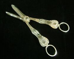 Silver Hallmarked Grape Scissors Sheffield 1959 Cooper Brothers And Sons 120g