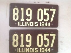 Vintage Illinois License Plate Collection Made From Soybeans - New Price