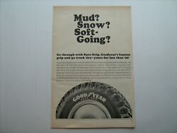 1964 Goodyear Sure Grip Truck Tires Vintage Ad From Private Estate--'64