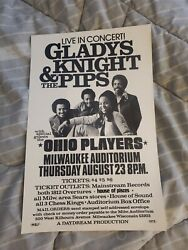 Gladys Knight And The Pips The Ohio Players Original Rare Concert Poster