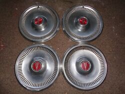 Vintage Oem Gm Pontiac Hub Cap Wheel Center Cap Set Of 4 - Buick Oldsmobile