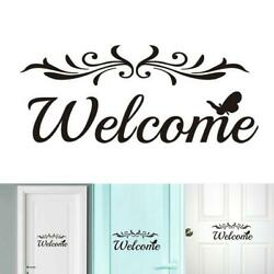 Welcome Wall Stickers Removable Self Adhesive Decor Creative Pattern Wall Decals
