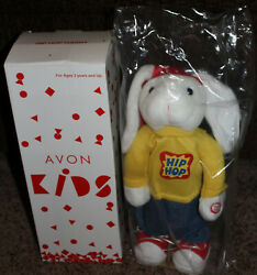 nib – AVON EXCLUSIVE – 2002 kids – HIP HOP HARRY – battery operated –PLUSH BUNNY