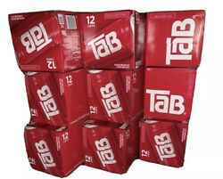 Brand New 12 Pack Fridge Case Of Tab Soda 12 Oz Cans Coca Cola Co. Unopened