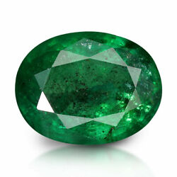 Rare Emerald 2.67 Ctlab Certified Unheated Natural Oval Aaaa+ Quality Gemstone