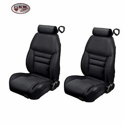 Black Front And Rear Bucket Seat Upholstery For 1997-98 Mustang Gt Cobra Coupe