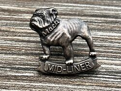 Bulldog Pin Badge Mid Liner amp; Mack on Collar