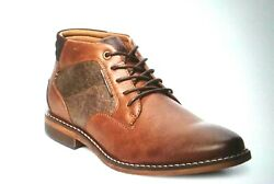 Sonoma Goods For Life Menand039s Cognac Brown Ankle Boots Nib Size 11 Wide Cushioned